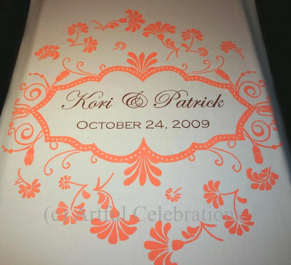 Custom Wedding Aisle Runner Hand Painted, DEPOSIT for any length and design