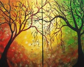 ART SALE SPRING to AUTUMN Set of 2 PRINTS from Original Painting LIMITED EDITION
