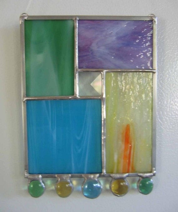Multi-colored Modern Stained Glass Suncatcher No. 2