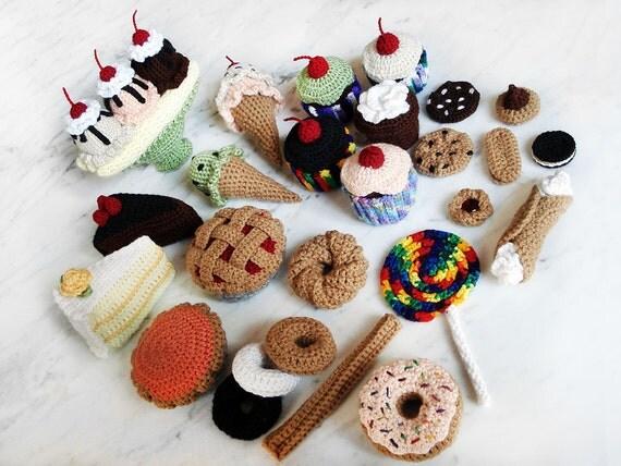 Dessert Crochet Pattern Set