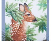 Little Deer Original Watercolor Painting
