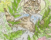 Beatrix Potter, Tom Kitten, ACEO Print