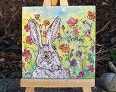 Rabbit Dreams, Original Watercolor Painting