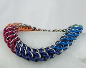 Chainmaille Bracelet - GSG Pattern - Stretchy Rainbow