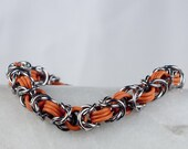 Orange - Byzantine Chainmaille - Stretchy Byzantine Pattern