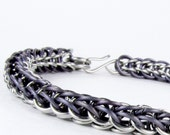 Chainmaille Bracelet - Full Persian Pattern - Purple Titanium Chain