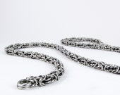 Black Byzantine - Chainmaille Necklace