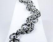 Chainmaille Bracelet - Black Byzantine - Snake