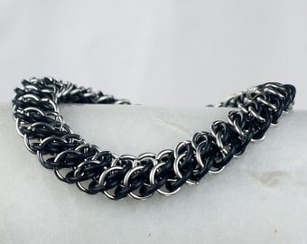 Stretchy Black - Chainmaille Bracelet - GSG Style