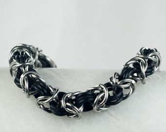 Black - Chainmaille Bracelet