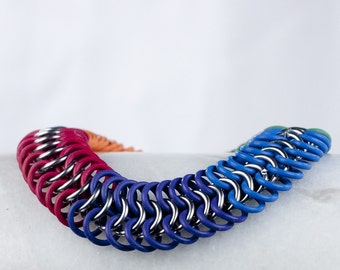 Rainbow - Chainmaille Bracelet