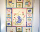 Moda Easter Bunny Pastel Corlors Fabric Panel for Quilt or Wall Decor