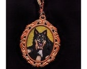 Custom-Painted Mini Pet Portrait Necklaces OF YOUR PET - Wearable Art Close to Your Heart - by Moonshine Baby -- A perfect Gift