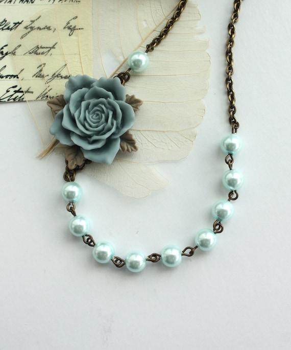 Anastasia -  A Romantic Rose Flower Necklace