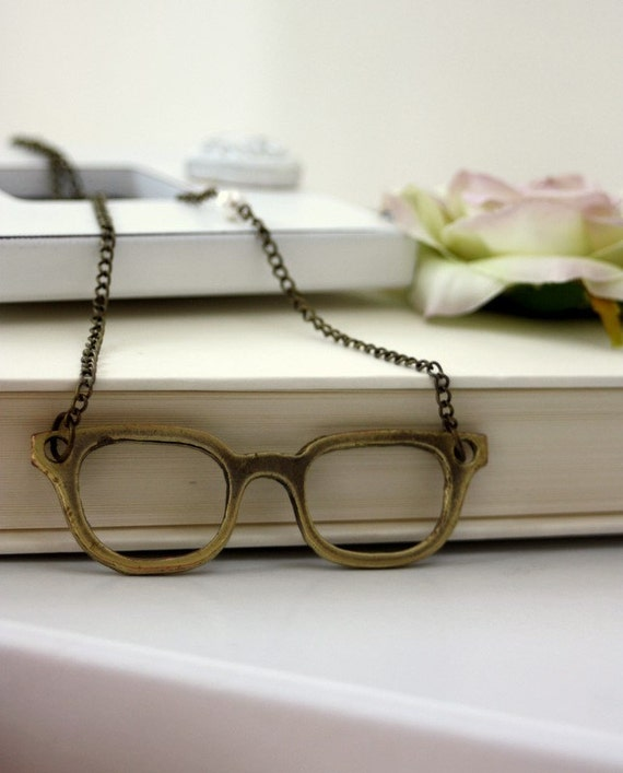A Chic Large Eyeglasses Necklace. Whimsical, Adorable and Fun.