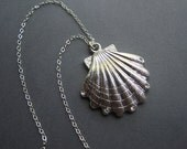 Silver Shell Necklace - Sterling Silver Necklace - The Elegant Seashell