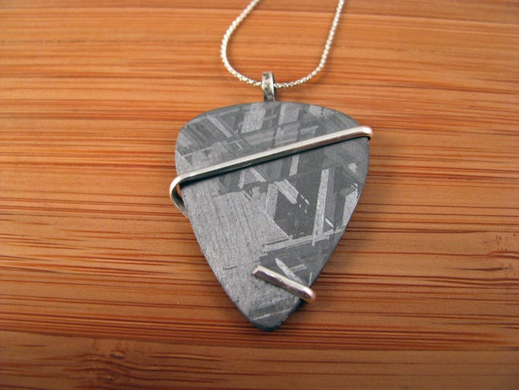 Muonionalusta Iron Meteorite Guitar Pick Pendant