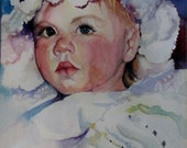 Baby Girl with a Tear  portrait 10 x 8 print  free shipping