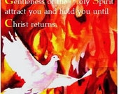 Holy Spirit  Dove Fire 8 x 10  free shipping