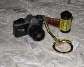 Camera and Film Miniature Key Chain