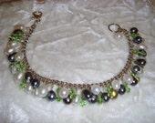 Pearl and Swarovski Cluster Bracelet