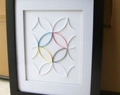 Custom Color Circles Quilled Paper Wall Art