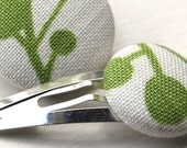 Green Spot Hair Tie and Clip