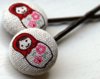 Russian Dolls Bobby Pins