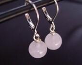 Minimalistic Rose Quartz Earrings - Limited Edition