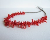 Necklace - Coral - Baby Olive Shell Heishi
