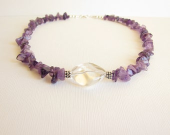 Necklace - Amethyst - Sterling Silver
