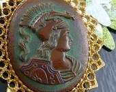 Gorgeous Greek Goddess Athena Cameo Necklace - Three Etsy Treasuries
