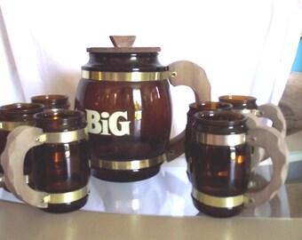 Barware Siesta Ware Think Big 70s Jug n Mugs Barrel Mugs Bar Wear