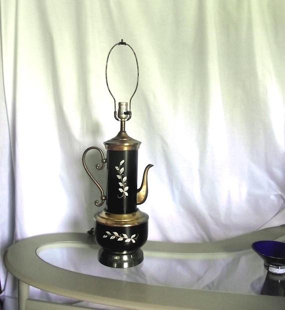1950s Lamp. Vintage Teapot Magic Lantern Lamp. Table Lamp