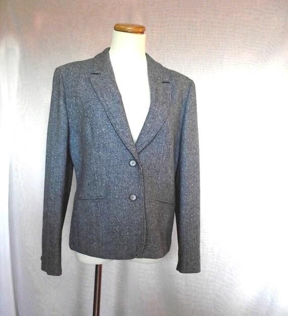 Vintage 70s Pendleton Jacket. Soft Blue Wool Blazer. Sz M to Sz L