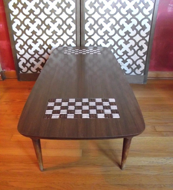 Vintage 60s Coffee Table. Retro Formica Wood By Judygovintage