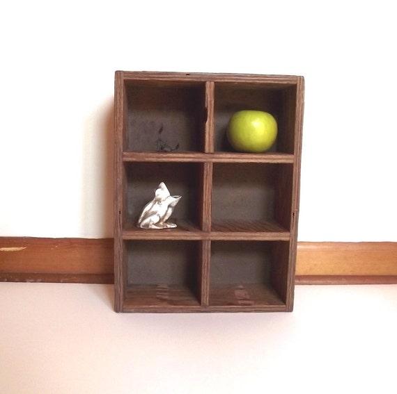 Display Shelf / Rustic Vintage 70s Utility Box / Storage Shelves / Mini Display Shelf