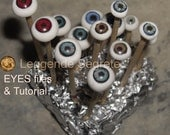 Ready Eyes Printable for Polymer Clay OOAK with tutorial