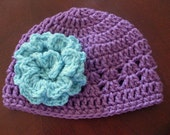 Hand Crocheted Shell Hat