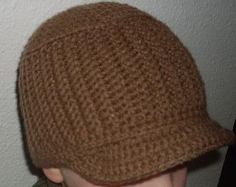 Hand Crocheted Brim/Ribbed Beanie