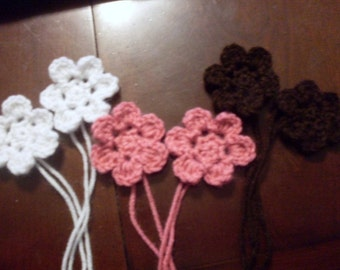 Hand Crocheted Flower Appliques