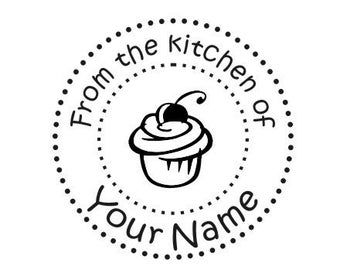 Personalized Handle Mounted From The Kitchen of Custom Rubber Stamp K6