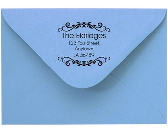 Personalized Custom Made Return Address Stamp Rubber Stamps R90