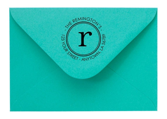 Personalized Custom Made Return Address Rubber Stamps R45