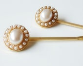 Elegant Hair Pins with Pearls