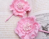 Candy Pink Whimsical Flower Hair Slides