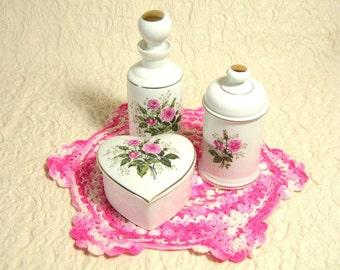Vintage Ceramic Vanity Set