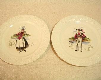 Vintage Homer Laughlin Spanish Dancer Plates D52N5