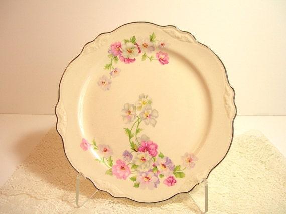 Homer Laughlin Vintage Floral Plate