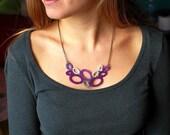 Lavender Crochet Necklace